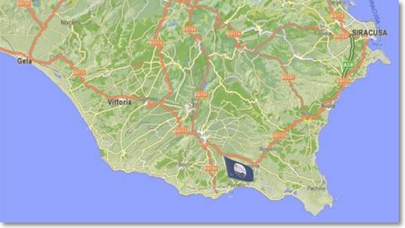 Blu sicilia mappa delle principali localit turistiche della mappa della sicilia orientale thecheapjerseys Gallery